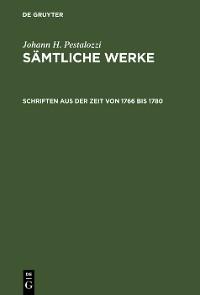 Cover Schriften aus der Zeit von 1766 bis 1780