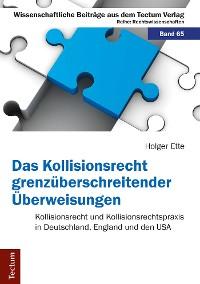 Cover Das Kollisionsrecht grenzüberschreitender Überweisungen