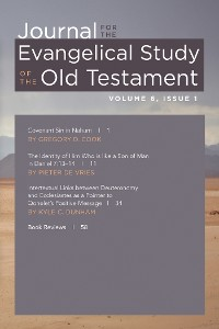Cover Journal for the Evangelical Study of the Old Testament, 6.1