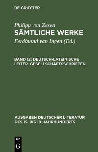 Cover Deutsch-lateinische Leiter. Gesellschaftsschriften