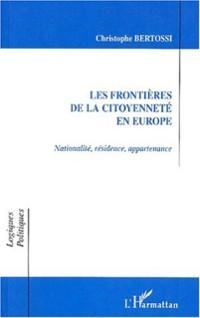 Cover LES FRONTIERES DE LA CITOYENNETE EN EUROPE
