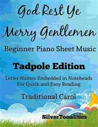Cover God Rest Ye Merry Gentlemen Beginner Piano Sheet Music Tadpole Edition