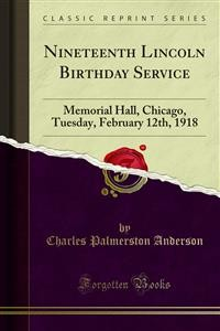 Cover Nineteenth Lincoln Birthday Service