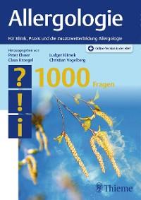 Cover Allergologie - 1000 Fragen