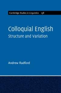 Cover Colloquial English