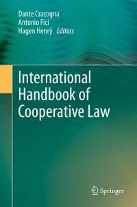 Cover International Handbook of Cooperative Law