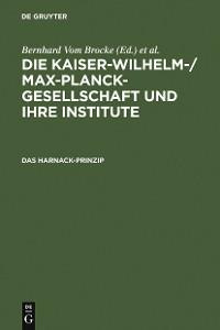 Cover Das Harnack-Prinzip