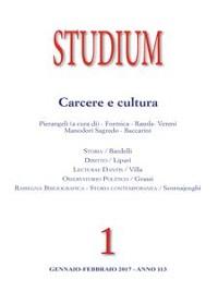 Cover Studium - Carcere e Cultura