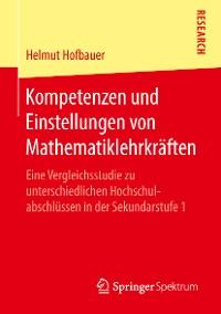 Cover Kompetenzen und Einstellungen von Mathematiklehrkräften