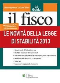 Cover Le Novità della legge di stabilità 2013