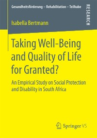 Cover Taking Well‐Being and Quality of Life for Granted?
