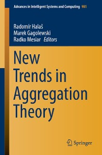 Cover New Trends in Aggregation Theory