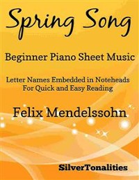 Cover Spring Song Beginner Piano Sheet Music