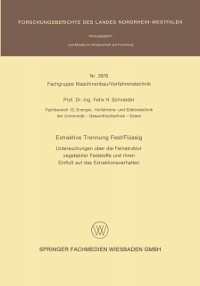 Cover Extraktive Trennung Fest/Flussig