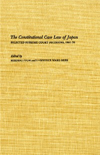 Cover The Constitutional Case Law of Japan