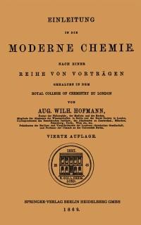 Cover Einleitung in die moderne Chemie