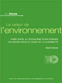 Cover La valeur de l'environnement