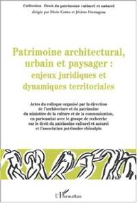 Cover Patrimoine architectural urbain et paysa