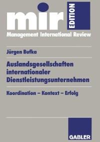 Cover Auslandsgesellschaften internationaler Dienstleistungsunternehmen