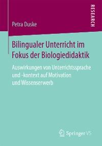 Cover Bilingualer Unterricht im Fokus der Biologiedidaktik