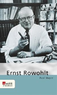 Cover Ernst Rowohlt