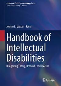 Cover Handbook of Intellectual Disabilities