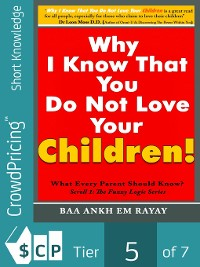 Cover Why I Know That You Do Not Love Your Children!