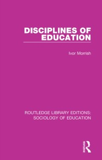 Cover Disciplines of Education