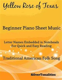 Cover Yellow Rose of Texas Beginner Piano Sheet Music