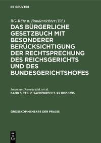 Cover Sachenrecht. §§ 1012–1296