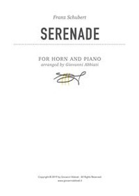 Cover Franz Schubert Serenade for Horn and Piano