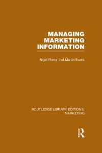 Cover Managing Marketing Information (RLE Marketing)