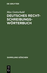 Cover Deutsches Rechtschreibungswörterbuch