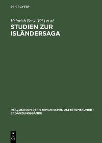 Cover Studien zur Isländersaga