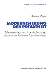 Cover Modernisierung der Privatheit