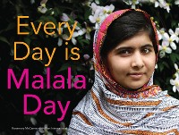 Cover Every Day is Malala Day