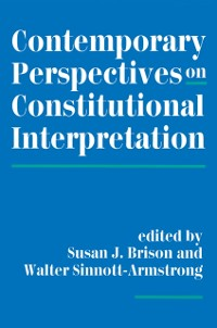 Cover Contemporary Perspectives On Constitutional Interpretation