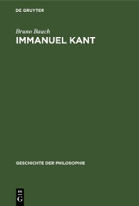 Cover Immanuel Kant