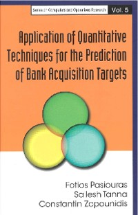 Cover Application Of Quantitative Techniques For The Prediction Of Bank Acquisition Targets