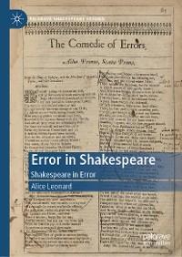 Cover Error in Shakespeare