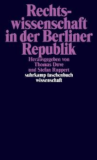 Cover Rechtswissenschaft in der Berliner Republik