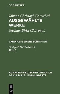 Cover Kleinere Schriften. Zweiter Teil