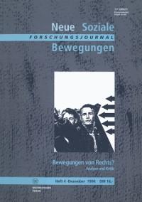 Cover Forschungsjournal Neue Soziale Bewegungen