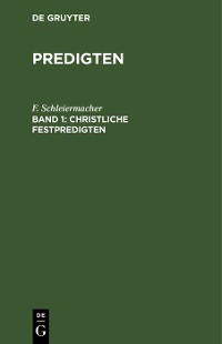 Cover Christliche Festpredigten