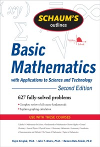 Cover Schaum's Outline of Basic Mathematics with Applications to Science and Technology, 2ed