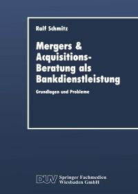 Cover Mergers & Acquisitions-Beratung als Bankdienstleistung