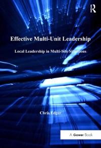 Cover Effective Multi-Unit Leadership
