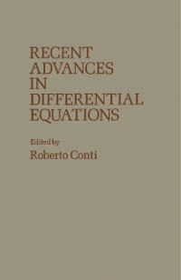 Cover Recent Advances in Differential Equations