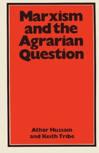 Cover Marxism and the Agrarian Question