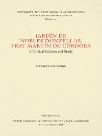Cover Jardín de nobles donzellas by Fray Martín de Córdoba